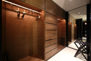 27974979 - beautiful and modern interior of bright cloakroom